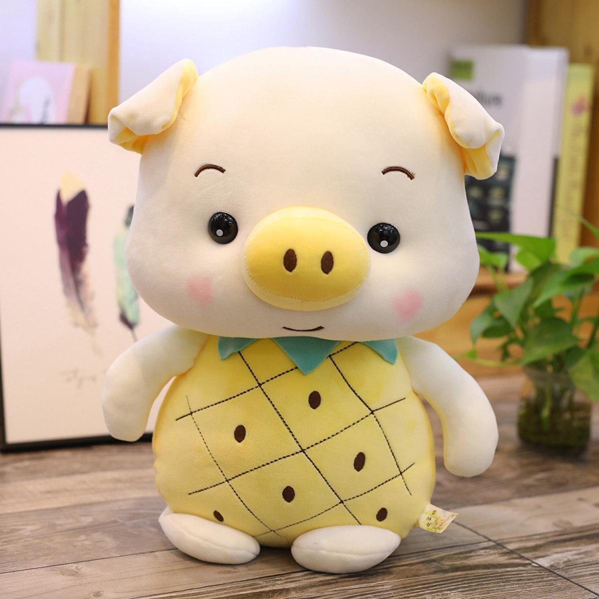 Nuovo creativo PP Cotton Frutta Maiale Coniglio peluche Strawberry Coniglio Ananas Coniglio Doll peluche ragazze regalo di compleanno Bunny T200731