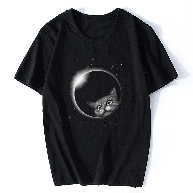 Gerhana Tişörtler Erkek Tee Baskı Gotik T gömlek erkekler Boyfriend Giyim Casual Camisetas Tek Parça CAMISAS Masculina Tops