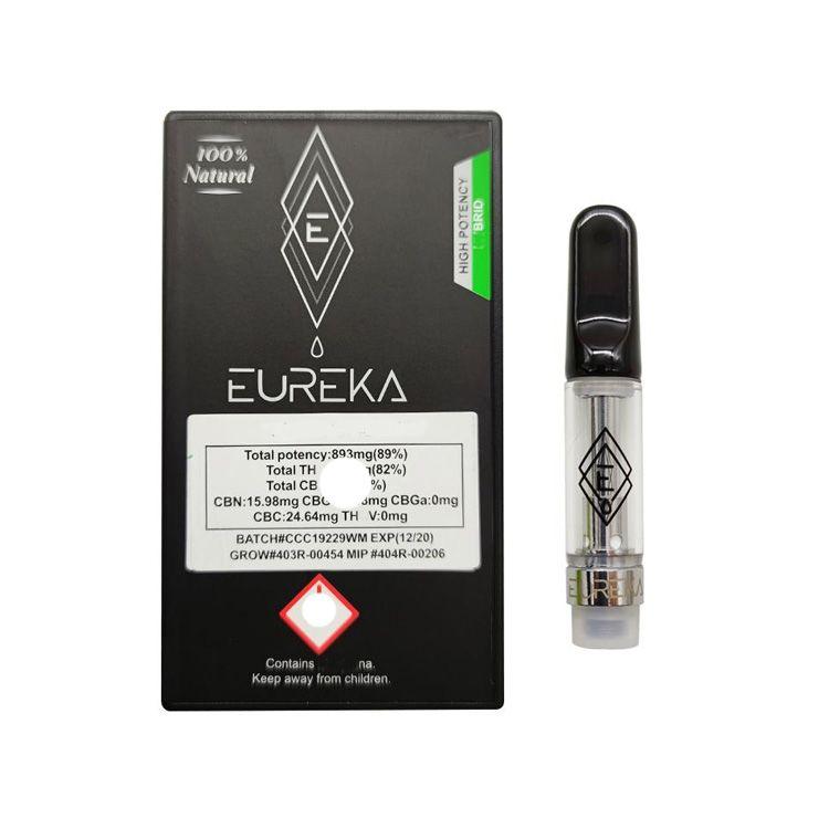 Eureka cartuchos de alta potencia Embalaje Vape Carros de 0,8 ml de aceite grueso atomizadores Vacío