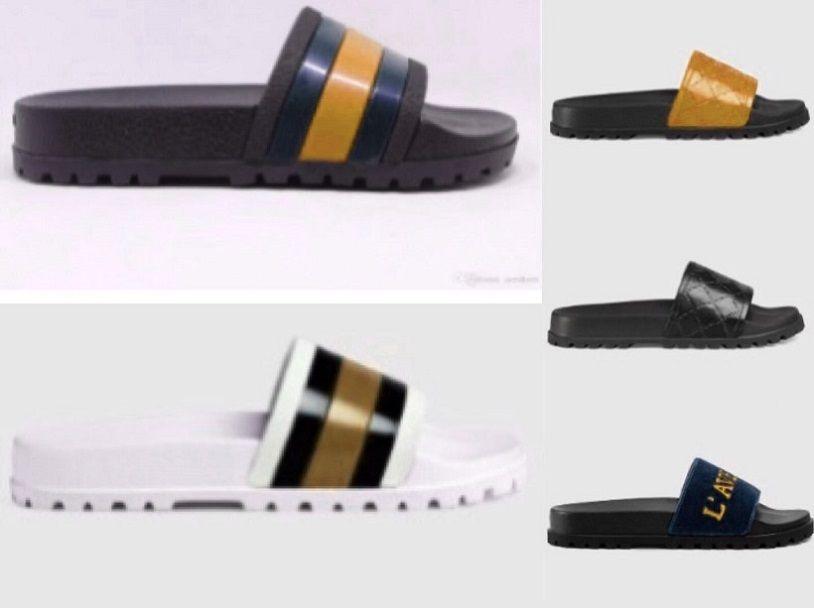 Classics Женская обувь кожаные сандалии дизайнер обуви Металлические пряжки реального кожаное платье тапочки обувь shoes013 GU06
