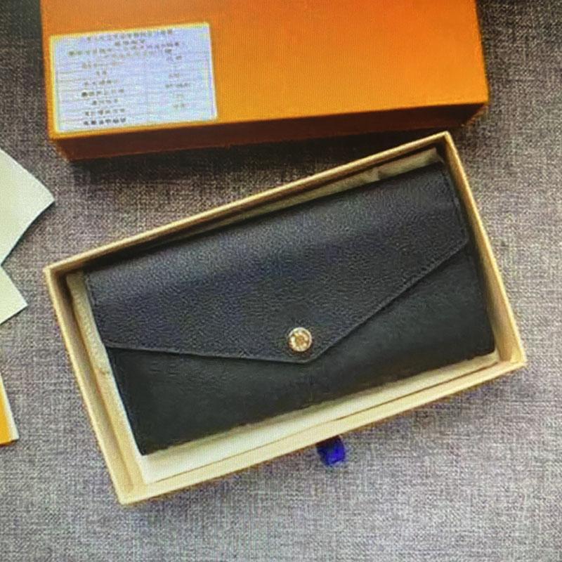 L M62125 Fall Brieftaschen Leder ikonische Frauen Brieftasche Geprägte Empression Lange Umschlag Geldbörsen Sarah M64082 Halter M61182 Blume Frau Clutch Ebiq