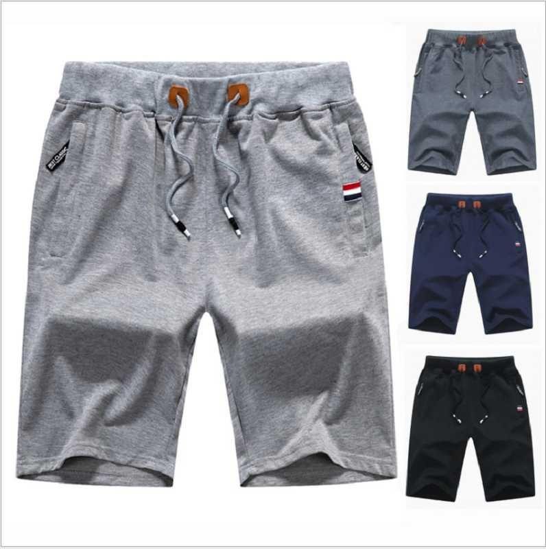 Hombres pantalón corto, pantalones cortos de verano fresco de cinco centavos de los hombres, pantalones cortos de algodón comodidad informal cremallera pantalones cortos de playa de bolsillo para los hombres
