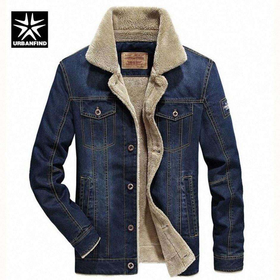 M-6XL Männer Jacke und Mäntel Marken-Kleidung Jeansjacke Mode-Männer Jeans dicke warme Winter-Outwear Male Cowboy G0sn #