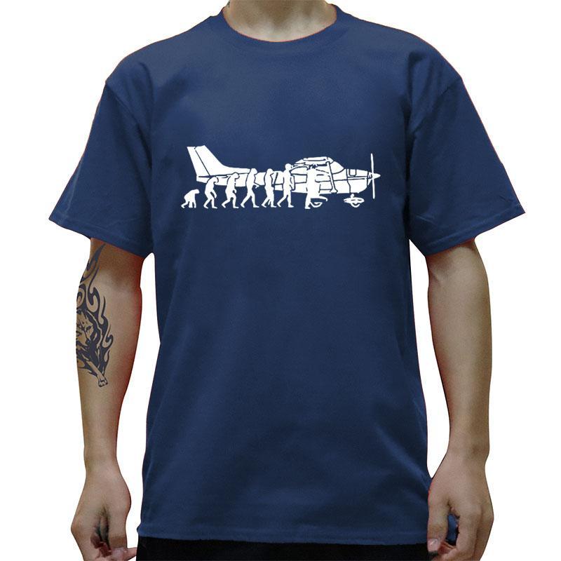 EVOLUCIÓN DE LA MOTOCICLETA del vuelo camiseta divertida del algodón de los hombres de Calle de gran tamaño de manga corta cuello redondo Camiseta de HIP HOP Camiseta
