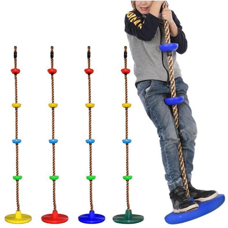 الحبال الاطفال حبل تسلق أرجوحة القرص حبل تسلق حديقة الأطفال سوينغ ملعب الفناء في الهواء الطلق سوينغ لعبة أطفال تسلق حبل LSK378