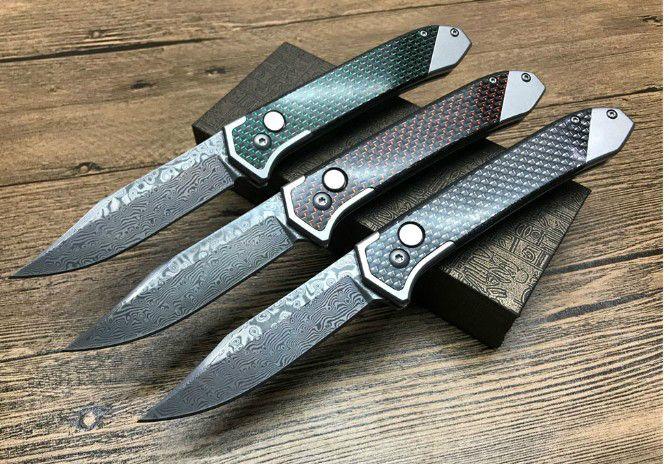 Thomas faca Damasco carbono lâmina alça de fibra única ação sobrevivência de caça, camping facas facas presente do Xmas