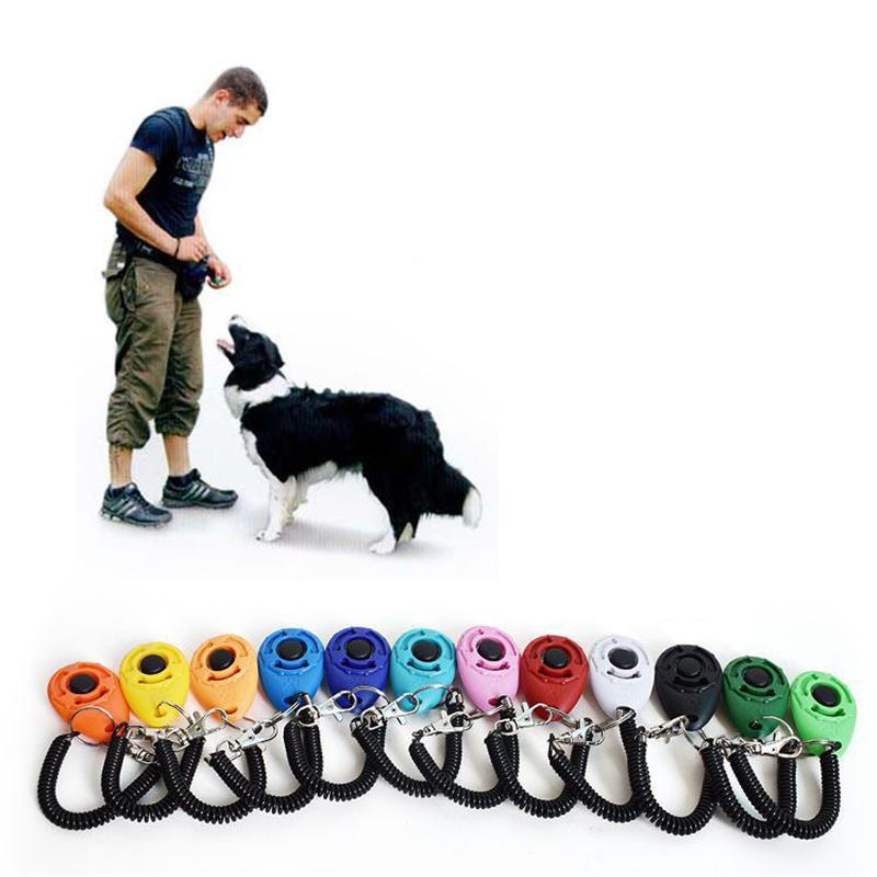 Davranışsal Eğitim JK2007XB için Ayarlanabilir Bilek Kayışı Köpekler tıklayın Eğitmen Yardım Ses Anahtarla Köpek Eğitim Clicker
