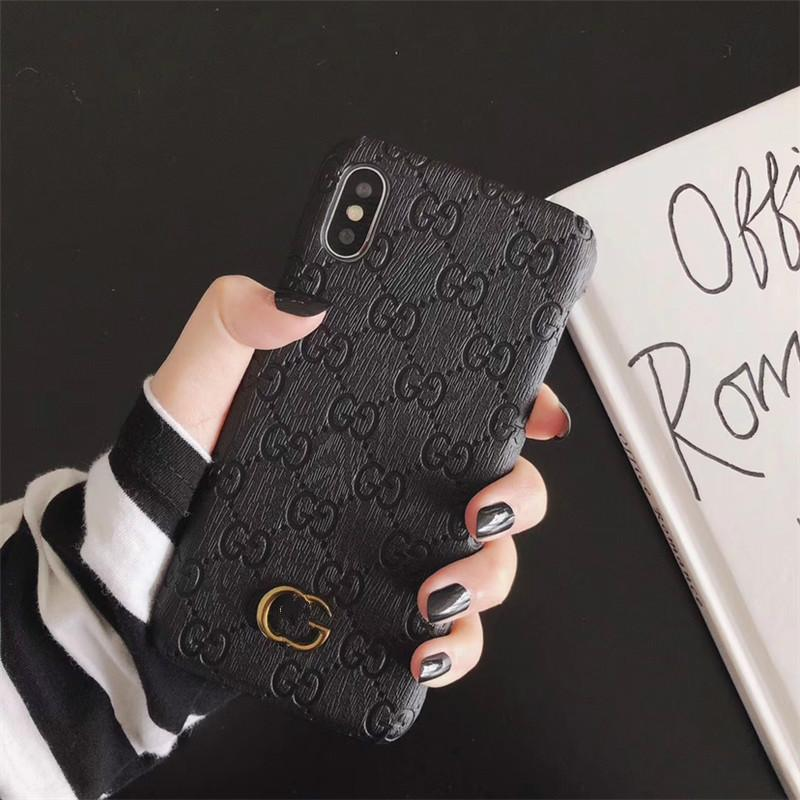 caixa do telefone de luxo para iPhone11 11promax 11Pro 6S 7 8 P X XS marca de moda marca metal caixa do telefone Designer ForS8 S8PLUS S9PLUS NOTE8 910 S20
