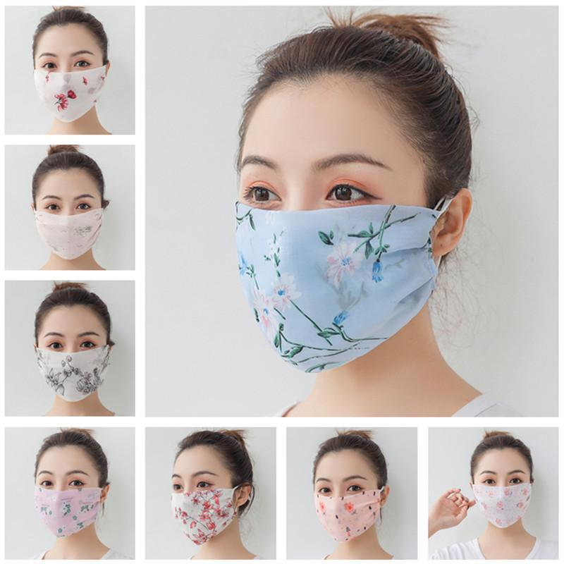 Femmes Foulard Visage Masque d'été en mousseline de soie Mouchoir extérieure vélo coupe-vent demi-visage anti-poussière Pare-soleil Masques anti-UV Face Shield Nouveau