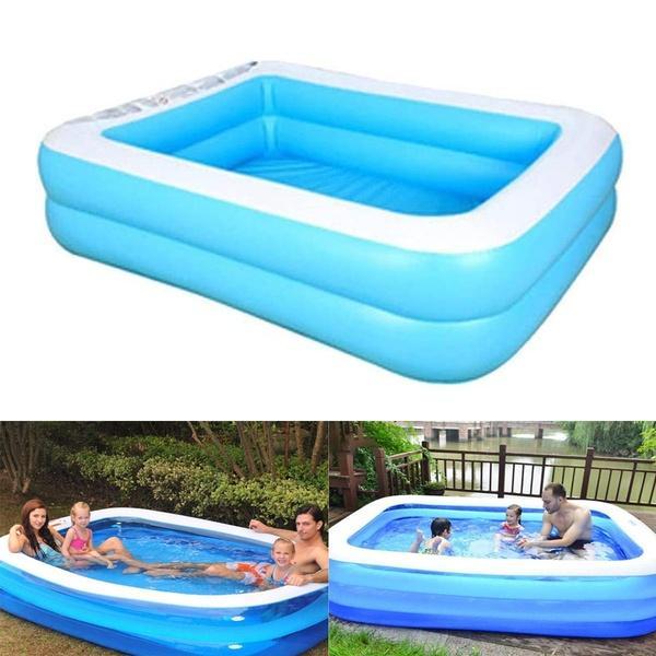 여름 풍선 수영장 가족 아이들 어린이 성인 재생 욕조 물 수영장 PVC 패들 욕조 야외