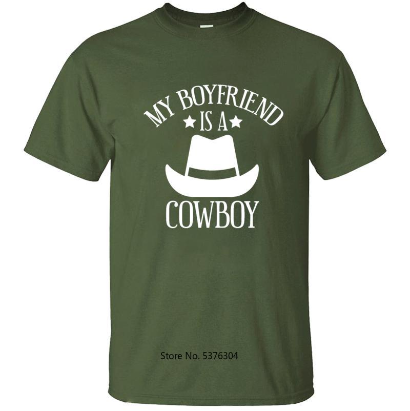 Impression Petit ami Cowboy T-shirt des hommes T-shirt d'hommes T-shirt pour les hommes Vêtements d'été 2020 à manches courtes Taille S-5XL Hauts design