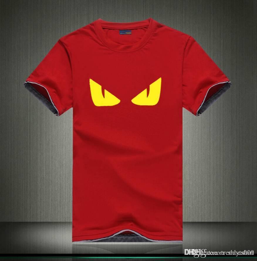 19ss Marca T-shirt FD Mens Designer camisetas Luxo Homens Mulheres Tees manga curta Tamanho S-3XL