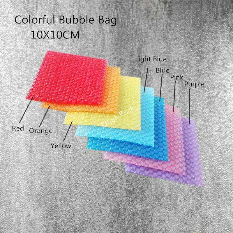 10 * 10cm (3.94 * 3.94' ) 50Pcs Nouveau en forme de coeur Sacs Bubble sac gonflable en mousse Wrap Matériel d'emballage cadeau décoration