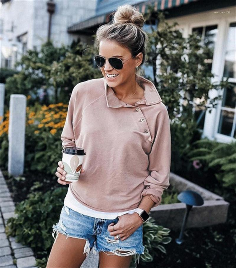 Clothing Solid Color Womens Designer Sweatshirts Fashion Patchwork Oblique Collar Womens Sweatshirts Casual Long Sleeve Females