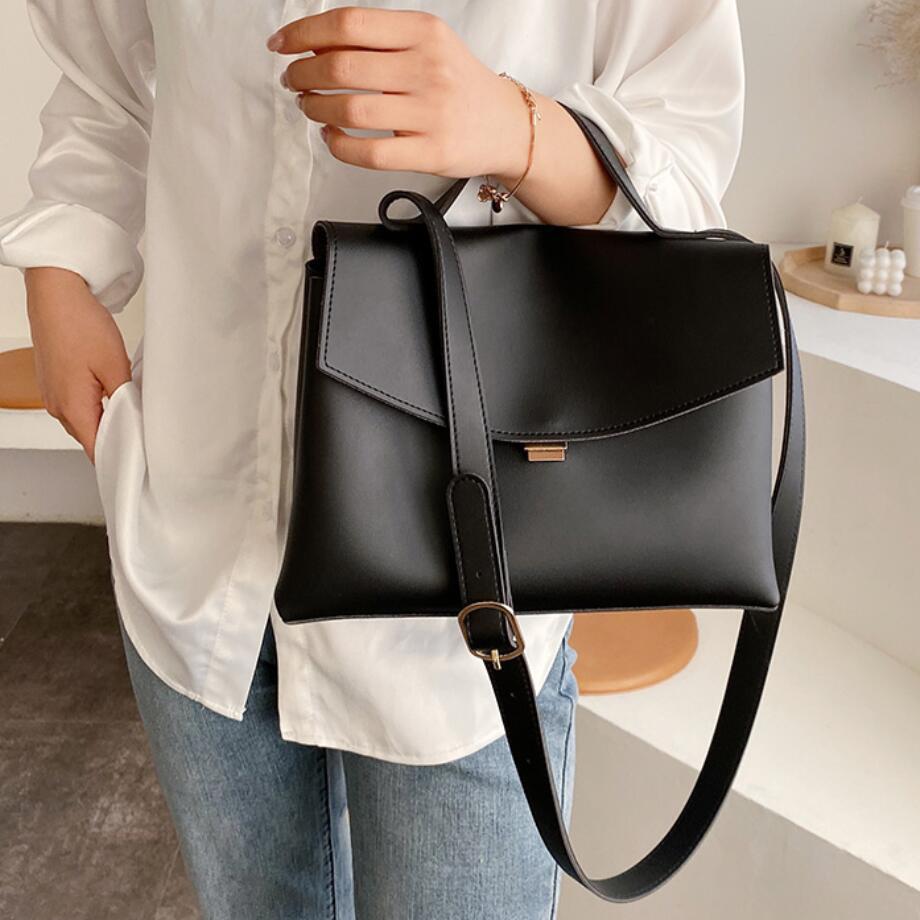Saco do vintage bolsa de lona feminina 2020 Nova bolsa de ombro pu couro de couro de alta capacidade de alta qualidade desenhador mensageiro moda feminino avigb