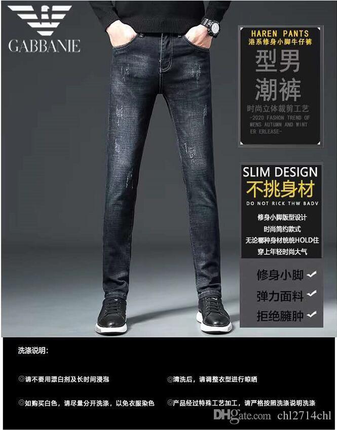Top dos homens da qualidade Mais emblema Lavados Luxury Jeans desenhador de moda Sreetwear Slim Fit pintado motociclista Denim Pants Calças tamanho grande