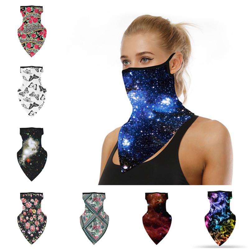 Unisex Männer Frauen halbe Gesichtsmaske Digitaldruck-Antistaub-Schal Radfahren Bandanas Masken Multifunktionale Sport Schal Waschbar Masken Geschenke