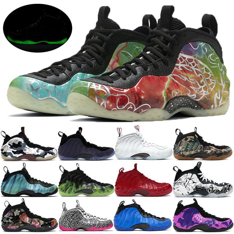 Mens Schiume pro One Planet Pechino Hoops Penny Hardaway scarpe da basket nero Neon Verde Northern Lights uomini formatori Jumpman delle scarpe da tennis
