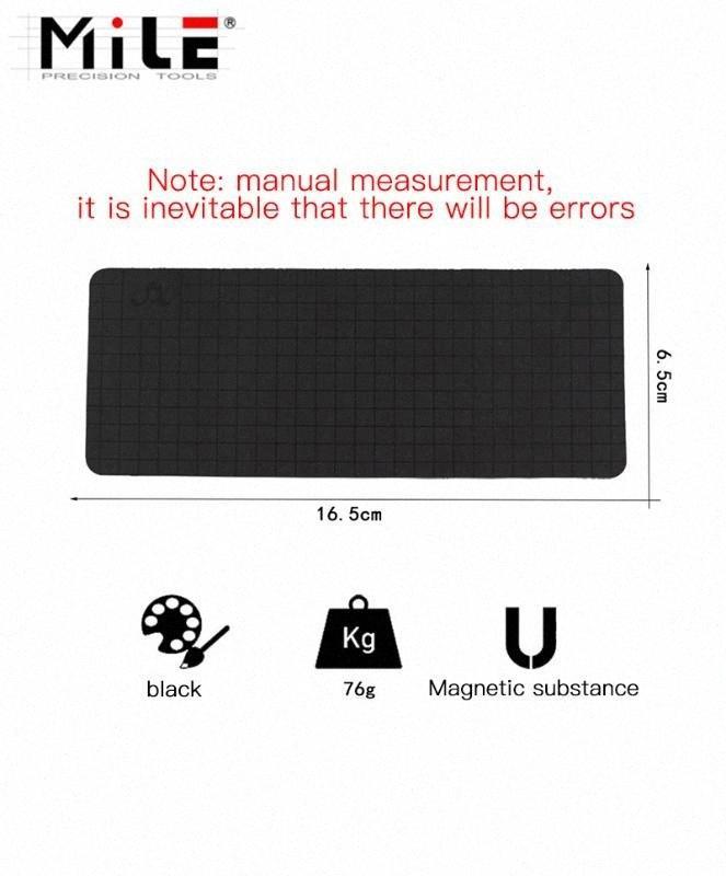 1PC millas 165 * 65mm magnético universal Mat Trabajo del tornillo estera del cojín de memoria Gráfico Tornillo Ordenar Gráfico encargado del protector rJmF #