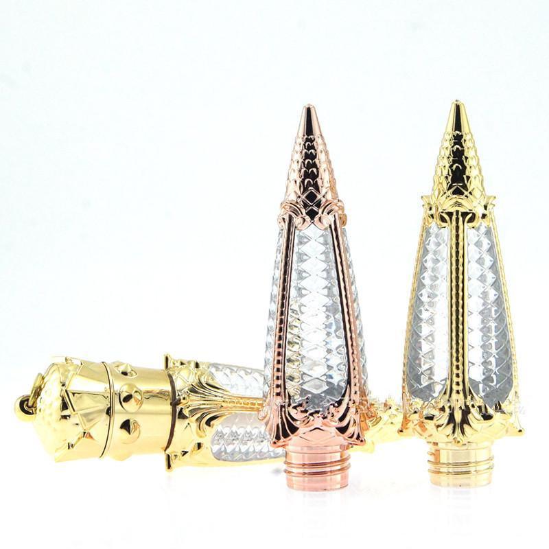 3 ملليليد فارغة شكل الذهب البلاستيك الشفاه بلون أنبوب، الجمال واضح الملكة الشفاه الحاويات، العصابات الجزر أحمر الشفاه زجاجة السفينة حرة