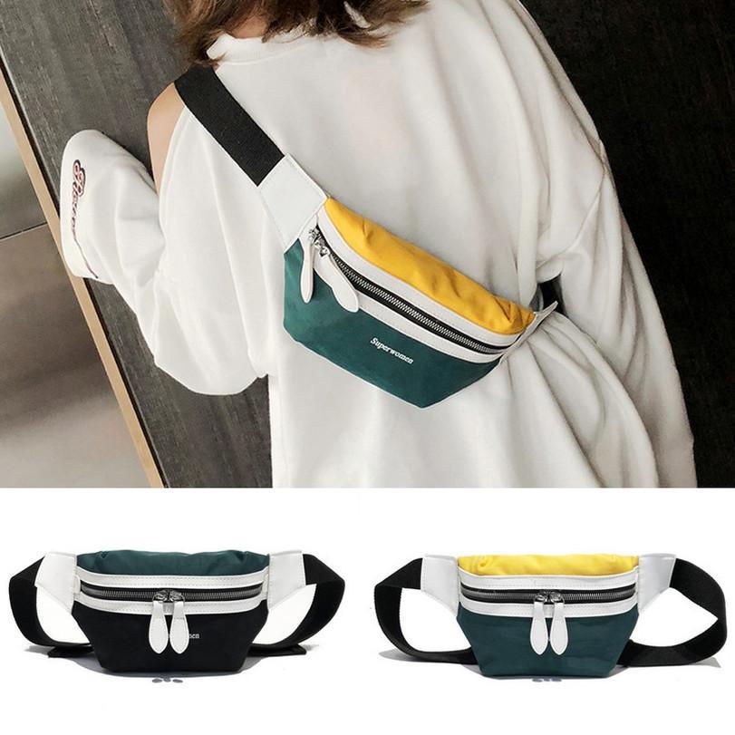 25 delle donne Lettera di moda della tela di canapa della spalla del messaggero di Crossbody del torace Borse Pack trasporto di goccia di buona qualità di nuovo modo