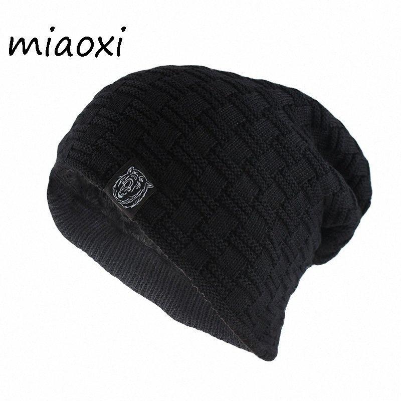 miaoxi di nuovo stile di modo degli uomini del cappello per le donne di lana a maglia Berretti Skullies adulti unisex informale modello animale inverno caldo dei cappelli Busa #