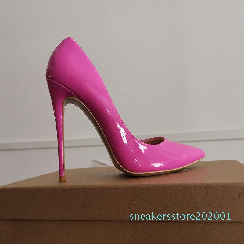 GENSHUO High Heels 12cm-Pink-Pumpen-Absatz Brautschuhe Stiletto Brautschuhe Estiletos Mujer 2020 Frauen s01 Pumps