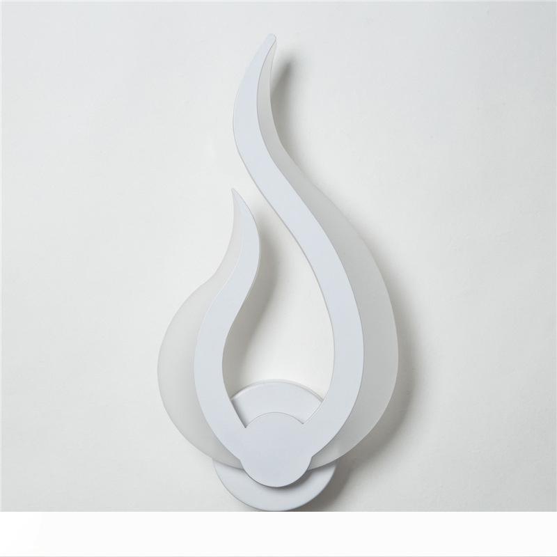1pc 1 emballage moderne LED Applique murale avec 10W flamme en forme de AC90-260V Dispositif acrylique, décoration artistique à l'intérieur, salle de bains 10012