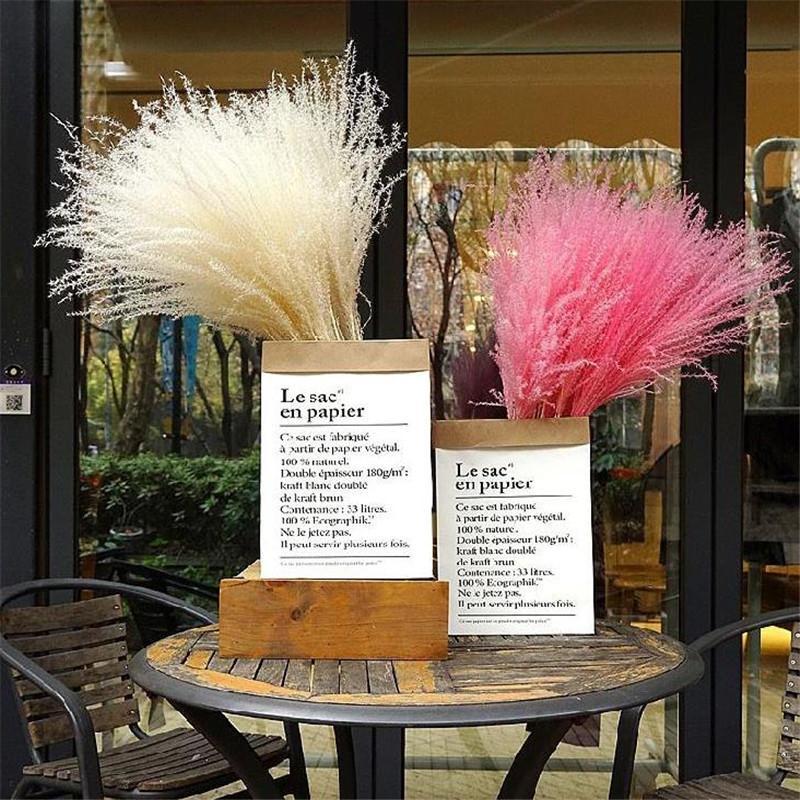 Livraison gratuite couleur blanche mariage rose herbe pampa séchées naturel fleur bouquet décoration de Pâques bouquet éternelle fleur