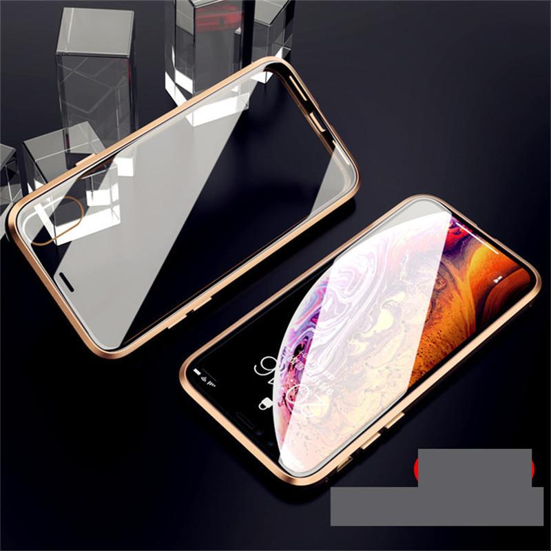 Two Sides Explosion Proof Mobile Phone Case for Iphone 11Promax 11pro 11 X/XS 7plus/8plus 7/8 6/6s Plus 6/6s Metal Frame