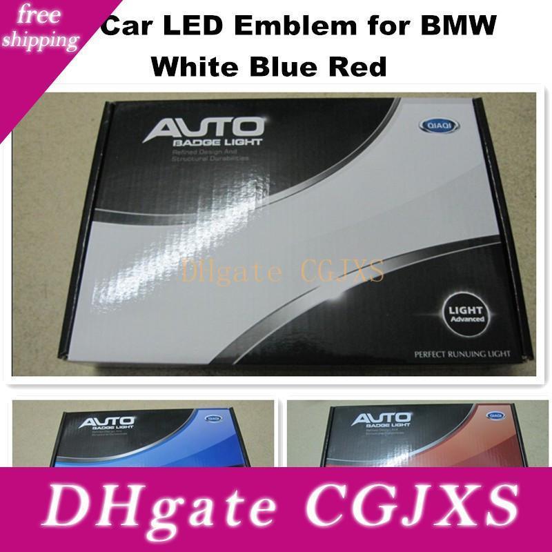 BMW의 주도 로고 82mm 화이트 블루 빨간 자동차 주도 배지 후면 엠블럼 등을 위해 4D 12V