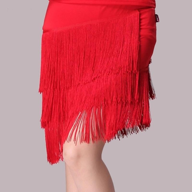 Latin Dance Skirt Adult female Rumba Samba Tango Ballroom Latin Tap Dance Dress Women Stage Costume Performance Tassel Skirt