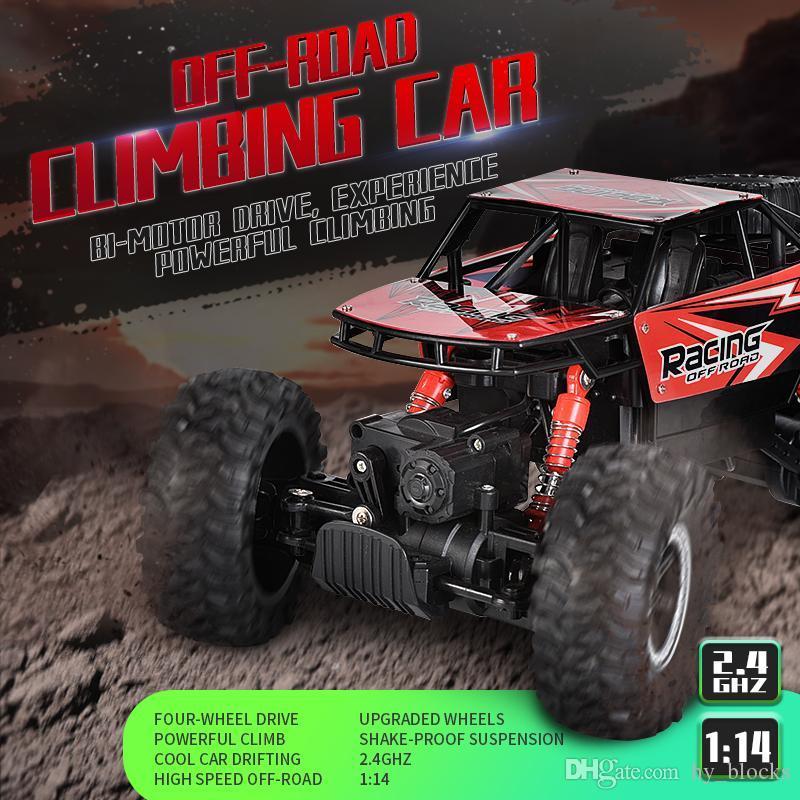 Racing Kids Jouets Modèle 2.4G Route de la voiture Dispositif de contrôle Remote 02 Vitesse Escalade RC 4WD 1:14 Véhicule de voiture camion pour High SBTFB