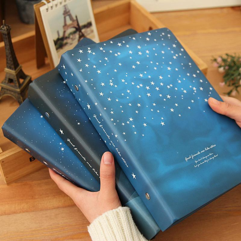 """""""Good Night"""" Loose Leaf Notebook Big Coil Spiral Hard Cover Diary Lined Papers Journal Planner Study Notepad T200727"""