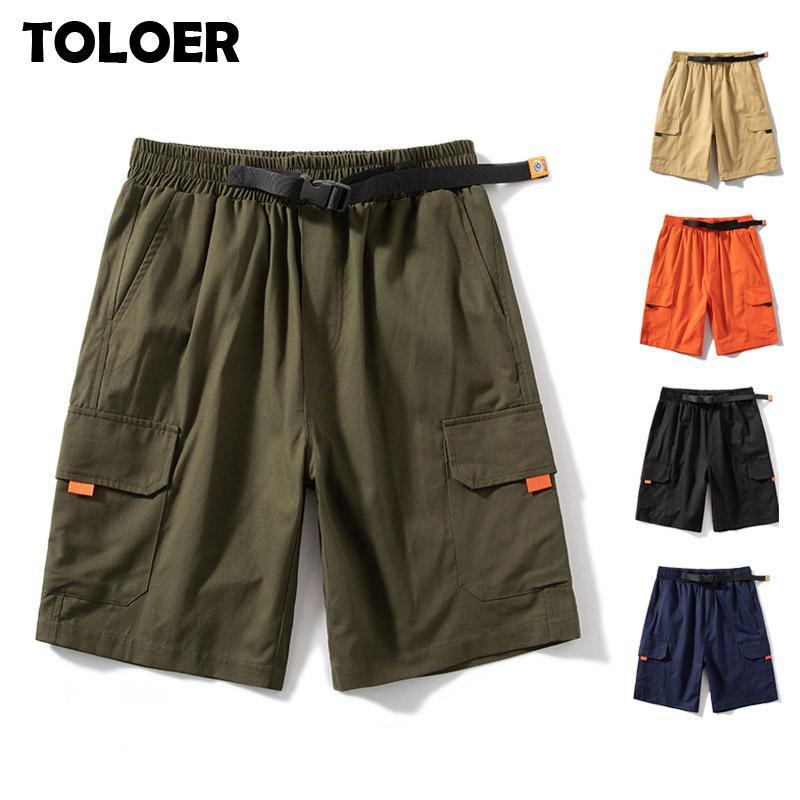 Pantalones Negro Verde S-8XL de carga pantalones cortos de los hombres de moda de verano Multi-bolsillo táctico cortocircuitos Ejército masculino Streetwear Joggers cortos 6XL 7XL