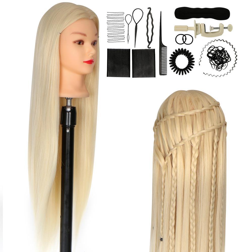 2020 White Hair Mannequin Head Training Head 30in Mannequin Cosmetology Manikin Head 100 Synthetic Fiber Rainbow Hair Style Doll Head From Beautytraininghead 48 23 Dhgate Com