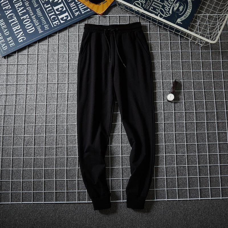 2020 nuevo estilo de estilo coreano del ajustado de los pantalones ocasionales de los pantalones de los hombres pantalones de algodón puro delgada para primavera y otoño tendencia Deportes Sw