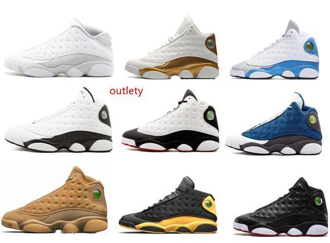 Wholesale Basketball Shoes 13 13s Sneakers Trainers Chicago 3M GS Hyper Royal Bordeaux DMP Wheat Olive Ivory He Got Game men sports shoes