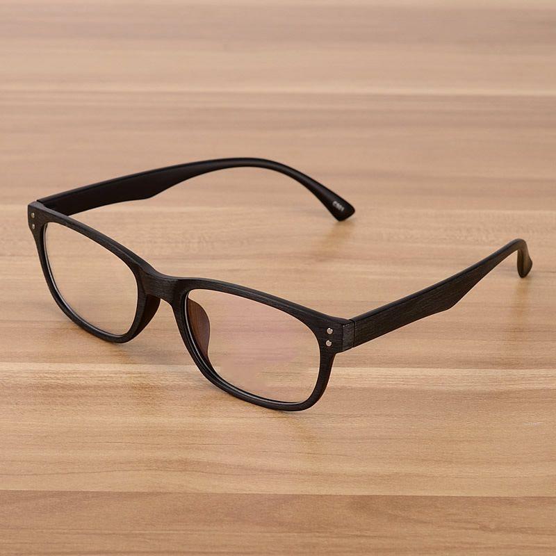 الأزياء الكورية نظارات بصري إطارات واضح عدسة النظارات وهمية خشبي تقليد خمر نظارات نظارات إطارات للرجال النساء ps0449