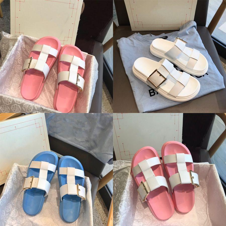 Donne Infradito donna peltro Marrone Nero strass sandali pistoni della spiaggia scarpe estive Sandali Infradito Zeppe Lady Shoes # 672