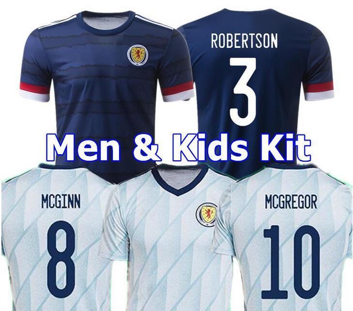 2020 Scotland Football Jerseys 2021 Robertson Fraser Shirt Football Ensemble Naismith McGregor Christie Forrest McGinn Men Kit Kit Kit Uniformes
