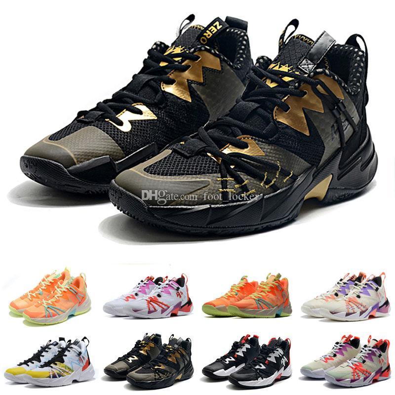 حار بيع راسل وستبروك 3 أحذية النخبة لماذا لا Zer0.3 الرعد كرة السلة للرجال للجودة عالية الأسود الأبيض الرياضة أحذية رياضية الولايات المتحدة 40-46