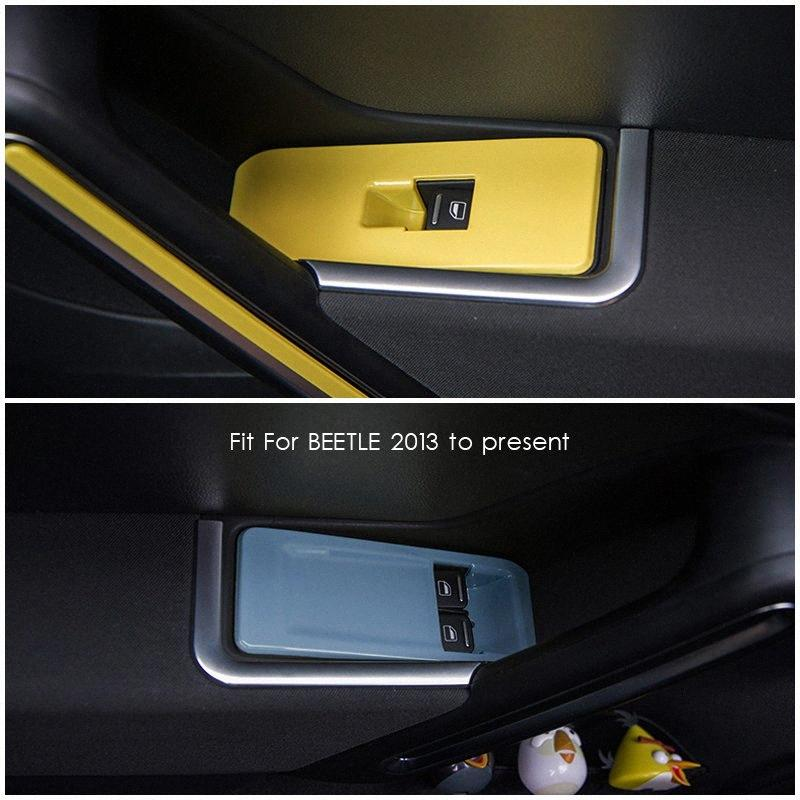 Fit For VW Beetle Car Door Window Switch Panel Decorative Cover Plate Trim Internal Car Styling Accessories Car Interior Accessories jho1#