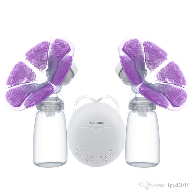 الثدي ريال Bubee مزدوجة مضخة كهربائية مع الحليب زجاجة مريحة USB PP BPA الثدي قوية خالية مضخات الثدي تغذية الطفل الجديد