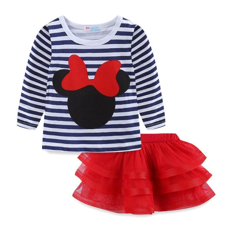 Shirt Mudkingdom bambina bambino e Tutu Gonne Principessa di costume della ragazza vestiti
