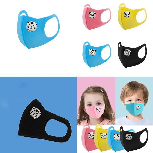 Máscaras para niños Diseño cara con la máscara de respiración Válvula niños y niñas la esponja smog transpirable a prueba de polvo Estudiante Xd23488 gLXXn