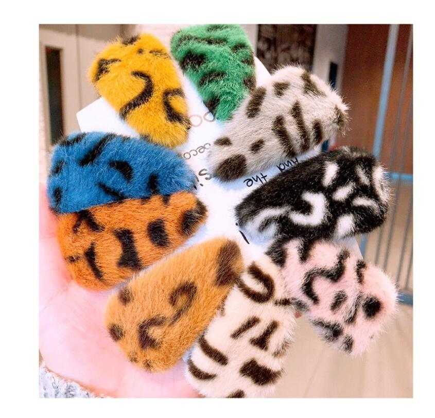 accessori Leopard triangolo pelliccia capelli carino finta pelliccia Pins Girls' geometrica BB clip laterale clip dei monili di parola