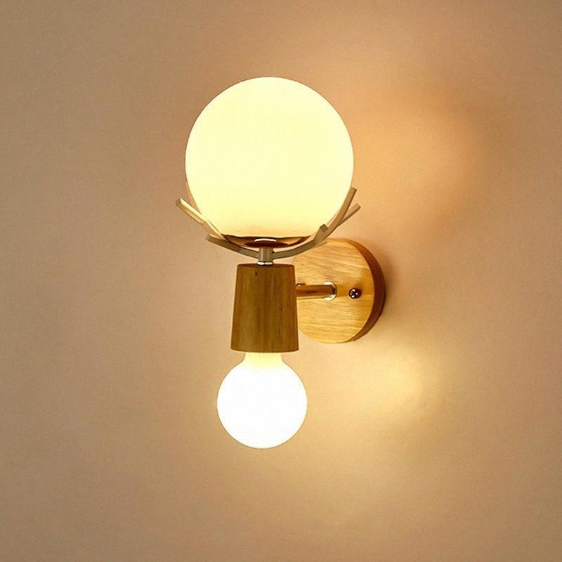 Ретро пантов Стиль стеклянного шарика E27 Настенный светильник Nordic Массивная Настенный светильник для Ресторан Бар Одежда Магазин придел Кафе Ночной O9IJ #