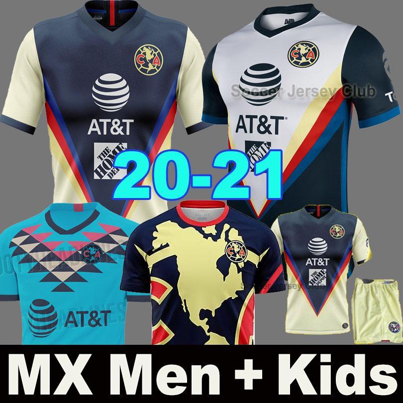2020 قميص 2021 نادي أمريكا لكرة القدم الفانيلة F. VINAS HENRY الاسباني MX 19 20 رودريغيز أمريكا جيرسي حارس المرمى GIOVANI الرجال الأطفال عدة لكرة القدم