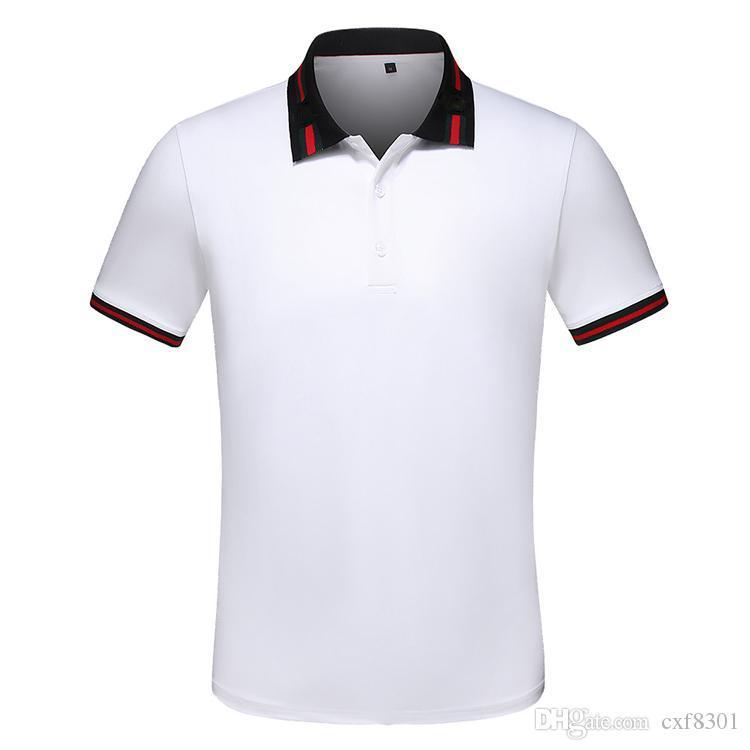 Yüksek Kaliteli İş Casual üstleri tişört polo gömlekleri moda marka yaz giyim kısa kollu lüks arı erkek tasarımcı tişört M-3XL vuruşu